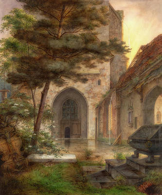 Painting - A Portal Of A Church by Ernst Oehme