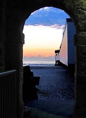 Photograph -  A Portal To Daytona Beach Sunrises. by Chris Mercer