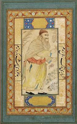 Persia Painting - A Portrait Of A Dervish by Reza-i Abbasi