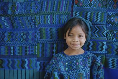 A Portrait Of A Guatemalan Girl Print by Raul Touzon