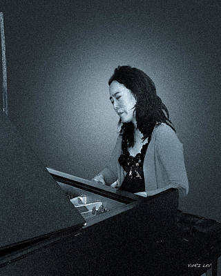 Piano Photograph - A Portrait Of Jazz Pianist Helen Sung by Yuri Lev