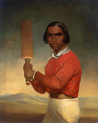 Cricket Painting - A Portrait Of Nannultera - A Young Poonindie Cricketer  by Mountain Dreams