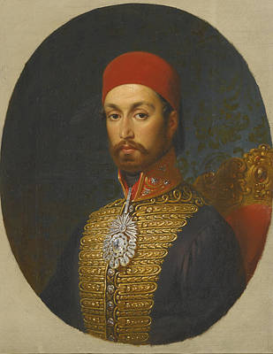 Sultan Painting - a portrait of Sultan by Johannes Franz