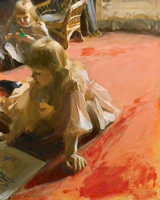 Anders Zorn Painting - A Portrait Of The Daughters Of Ramon Subercaseaux by Anders Zorn