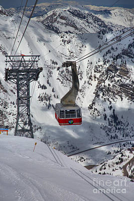 A Portrait Of The Snowbird Tram Art Print by Adam Jewell