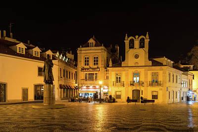 Photograph - A Portuguese Irish Pub - Cascais Portugal Night Magic by Georgia Mizuleva