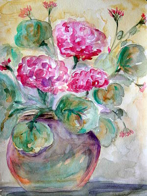 Julie Lueders Artwork Painting - A Pot A Spring by Julie Lueders
