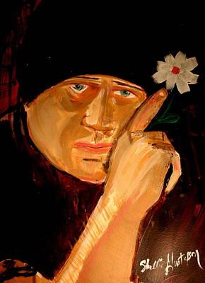 A Potrait Of An Artist Art Print by Shellie Gustafson