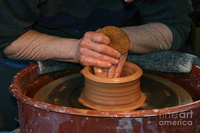 Photograph - A Potter's Hands by Marie Neder