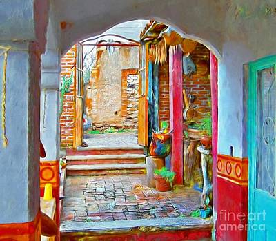 Photograph - A Pozos Interior by John Kolenberg