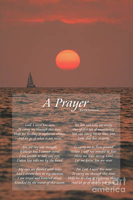 Photograph - A Prayer by E B Schmidt