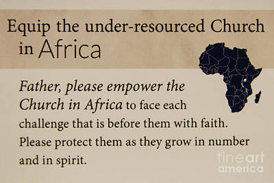 Photograph - A Prayer For Africa Prayer Art by Reid Callaway