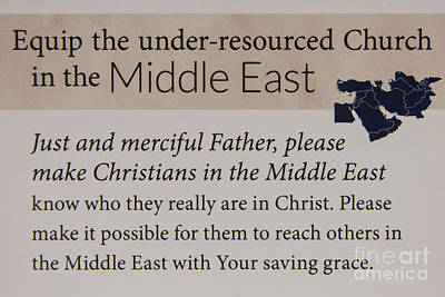 Photograph - A Prayer For The Middle East Prayer Art by Reid Callaway