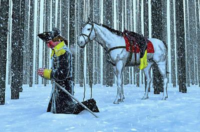 Digital Art - A Prayer In The Snow by Dave Luebbert