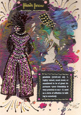 Mixed Media - A Precious Lady by Angela L Walker