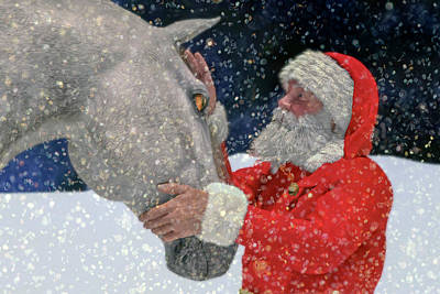 Christmas Holiday Scenery Digital Art - A Present For Santa by Betsy Knapp