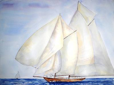 Painting - A Press Of Sails by Diane Kirk