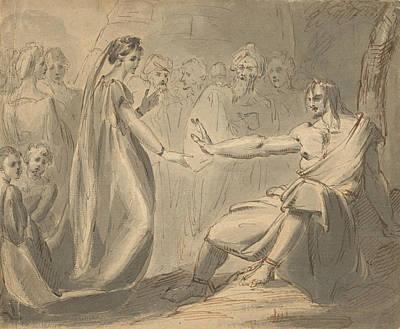Drawing - A Prison Scene by Treasury Classics Art