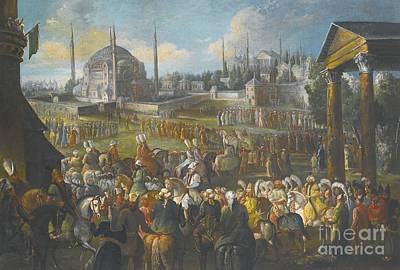 19th Century Painting - A Procession In Constantinople by Celestial Images