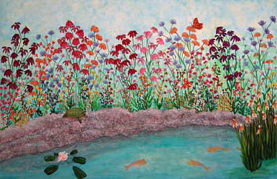 A Profusion Of Wildflowers Art Print by Ana Sumner