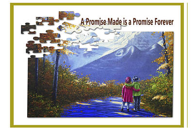 Painting - A Promise Made Is A Promise Forever by Saeed Hojjati