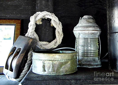 Photograph - A Pulley And A Lamp by D Hackett