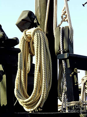Photograph - A Pulley With Lots Of Rope by D Hackett