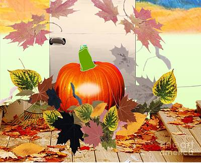 Painting - a Pumpkin Harvest by Belinda Threeths