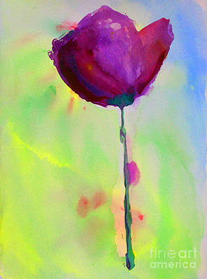 Painting - A Purple Flower by Julie Lueders