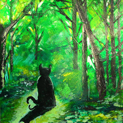 Painting - A Purrfect Day by Seth Weaver