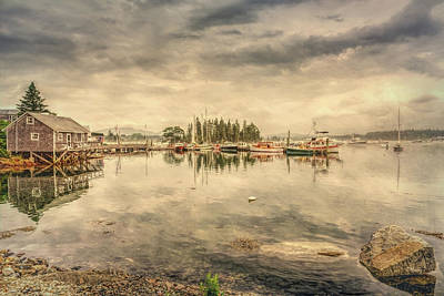 Photograph - A Quiet Little Harbor by John M Bailey
