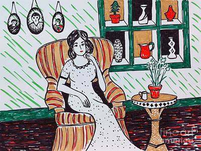 Peaceful Scene Drawing - A Quiet Moment by Heather McFarlane-Watson