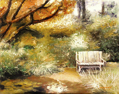 Intense Painting - A Quiet Place by Melissa Herrin