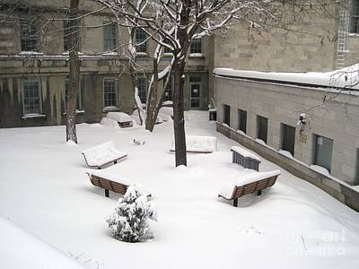 Montreal Winter Scenes Photograph - A Quiet Place by Reb Frost
