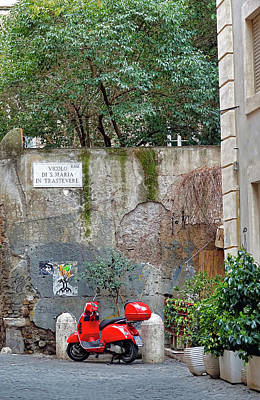 Photograph - A Quiet Scene In Trastevere In Rome, Italy by Richard Rosenshein