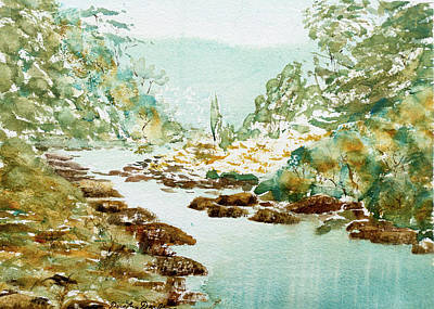 Painting - A Quiet Stream In Tasmania by Dorothy Darden