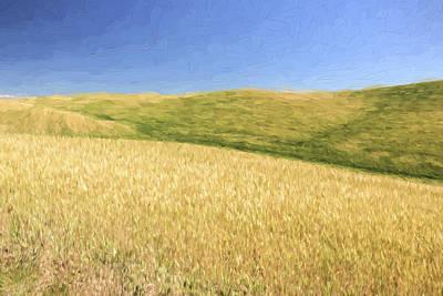 Crop Digital Art - A Quiet Walk II by Jon Glaser