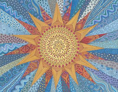 Quilts Drawing - A Quilt Of Sunshine by Pamela Schiermeyer