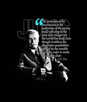 A Quote From Carl Gustav Jung Quote #17 Of 50 Available Art Print by Garaga Designs