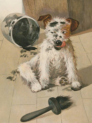 Paws Painting - A Ragamuffin by English School