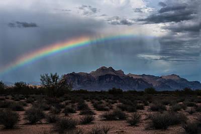 Photograph - A Rainbow Across The Superstitions  by Saija Lehtonen
