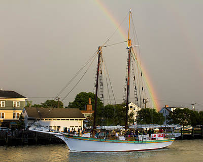 Photograph - A Rainbow Cruise by Kirkodd Photography Of New England