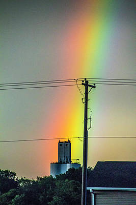 Photograph - A Rainbow Over The City 002 by NebraskaSC
