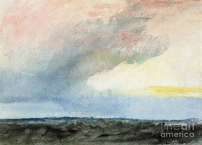 Water Colour Painting - A Rainstorm At Sea by Joseph Mallord William Turner