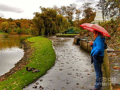 Photograph - A Rainy Autumn Day At Hesketh Park by Joan-Violet Stretch