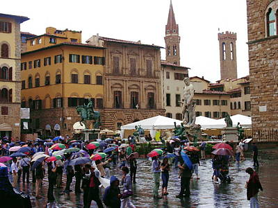Photograph - A Rainy Day In Florence by Jacqueline M Lewis