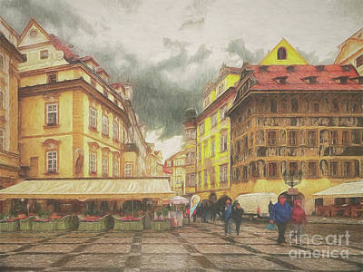 Photograph - A Rainy Day In Prague by Leigh Kemp