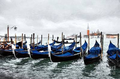 Photograph - A Rainy Day In Venice by Mel Steinhauer