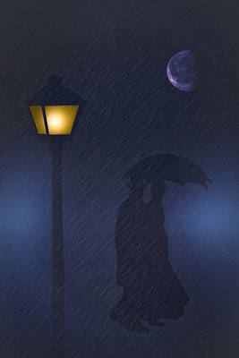 A Rainy Night Art Print by Tom York Images