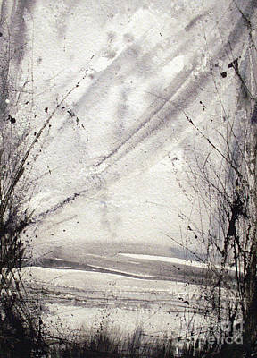 Muted Drawing - A Random Path by Keran Sunaski Gilmore